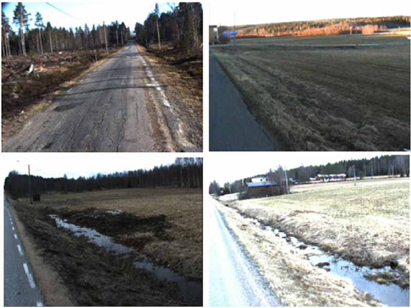 7  Examples of drainage deficiencies in the roadex area